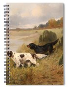 Dogs On The Scent Spiral Notebook