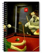 Dogs Playing Pool Wall Art Unknown Painter Spiral Notebook
