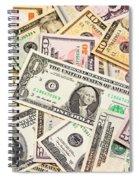 Dollars Background.  Spiral Notebook