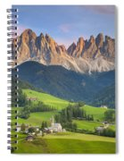 Dolomites From Val Di Funes Spiral Notebook