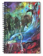 Dolphin Dives Spiral Notebook