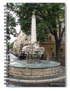 Dolphinfountain - Aix En Provence Spiral Notebook