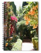Dolphinfountain And Flowers - France Spiral Notebook