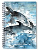 Dolphins In Gran Canaria Spiral Notebook