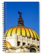 Dome Of Palacio De Las Bellas Artes Spiral Notebook