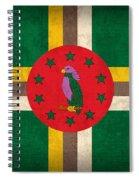 Dominica Flag Vintage Distressed Finish Spiral Notebook