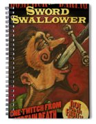 Dominick The Daring Poster Spiral Notebook