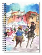 Don Quijote And Sancho Panza Entering Toledo Spiral Notebook
