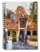 Donalds Boat Disneyland Toon Town Photo Art 02 Spiral Notebook