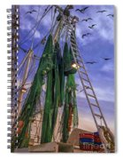 Done Shrimping At Tybee Island Spiral Notebook