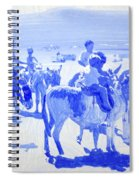Donkey's On The Beach Spiral Notebook