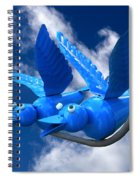 Donna's 1st Blue Bird Flight Spiral Notebook