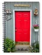 Donna's Red Friendship Door Spiral Notebook