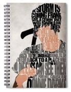 Donnie Darko Minimalist Typography Artwork Spiral Notebook