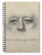 Dont Be Afraid Of The Dark Side Spiral Notebook