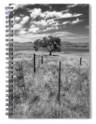 Don't Fence Me In - Black And White Spiral Notebook