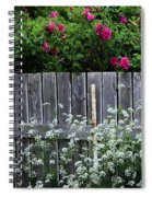 Don't Fence Me In - Wild Roses - Old Fence Spiral Notebook