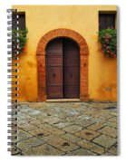 Door And Flowers In A Tuscan Courtyard Spiral Notebook