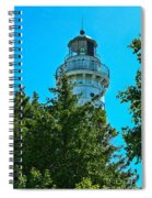 Door County Wi Lighthouse Spiral Notebook