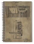 Door Lock Patent Spiral Notebook