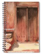 Door Series - Door 11 - Village Of Albanayeh Near Natanz Spiral Notebook