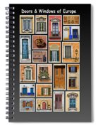 Doors And Windows Of Europe Spiral Notebook