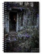 Doorway And Flowers Spiral Notebook