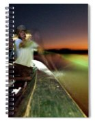 Dorian Simon Paddles A Large Wooden Spiral Notebook
