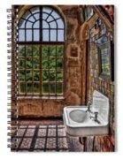 Dorm Bathroom Side View Spiral Notebook