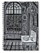 Dormer Bathroom Side View Bw Spiral Notebook