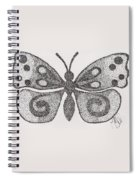 Dotted Butterfly Spiral Notebook