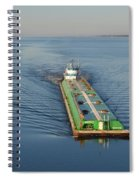 Double Barge On Calm Santa Rosa Sound From Navarre Bridge At Sunrise Spiral Notebook