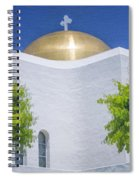 Double Cross Spiral Notebook