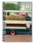 Double Decker Bus Main Street Disneyland 02 Spiral Notebook