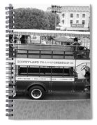 Double Decker Bus Main Street Disneyland Bw Spiral Notebook