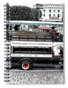 Double Decker Bus Main Street Disneyland Sc Spiral Notebook