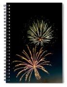 Double Fireworks Blast Spiral Notebook