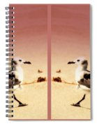 Double Gulls Collage Spiral Notebook