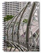 Double Helix Bridge 01 Spiral Notebook