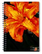 Double Petaled Lilly Spiral Notebook