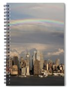 Double Rainbow Over Nyc Spiral Notebook