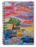 Candy Coated Monterey Sunset Spiral Notebook