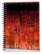 Double Studded Wood Doors Spiral Notebook