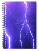Double Triple Blue Lightning Spiral Notebook