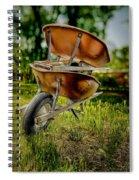 Double Wheelbarrow Spiral Notebook