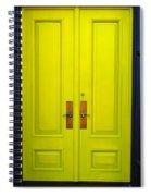 Double Yellow Doors Spiral Notebook