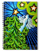 Dove And Christmas Tree Spiral Notebook