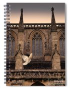 Dove Flying By Church Spiral Notebook