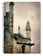 Dove Landing On Church Spiral Notebook