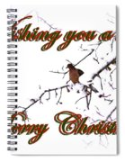 Dove - Snowy Limb - Christmas Card Spiral Notebook